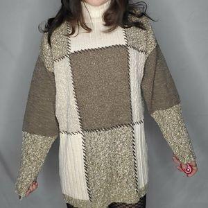 2/ $40   Vintage Patchwork sweater